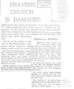 Newspaper article from 1962