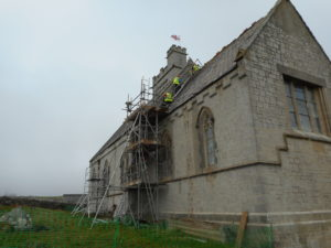 The re-pointing of the main body of the church is now complete